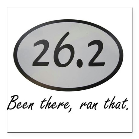 "Been There 26.2 Square Car Magnet 3"" x 3"""