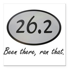 """Been There 26.2 Square Car Magnet 3"""" x 3"""""""