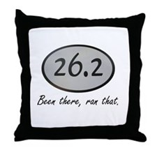 Been There 26.2 Throw Pillow