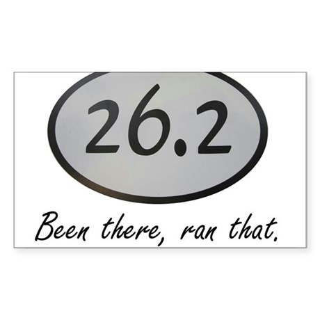 Been There 26.2 Sticker (Rectangle)