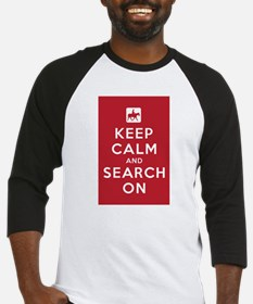 Keep Calm and Search On (Horse Teams) Baseball Jer