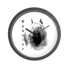 Bouvier Charcoal Wall Clock