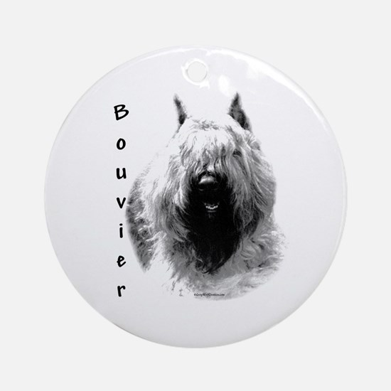 Bouvier Charcoal Ornament (Round)