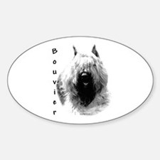 Bouvier Charcoal Oval Decal