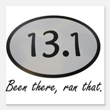"""Been There 13.1 Square Car Magnet 3"""" x 3"""""""