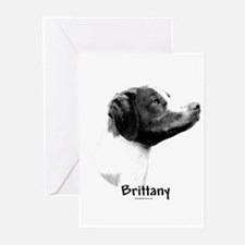 Brittany Charcoal Greeting Cards (Pk of 10)