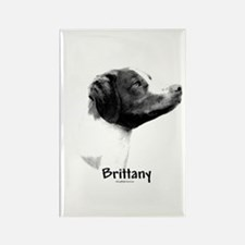 Brittany Charcoal Rectangle Magnet