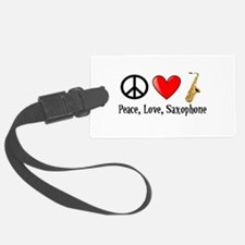 Peace, Love, and Saxophone Luggage Tag