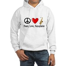 Peace, Love, and Saxophone Hoodie