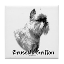Brussels Charcoal Tile Coaster