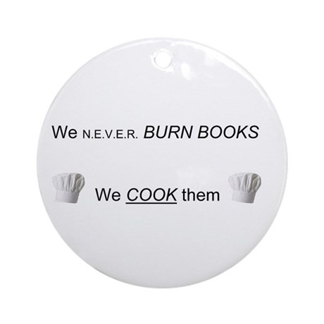 Cooking the books Ornament (Round)