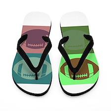 FOOTBALL QUAD 3 Flip Flops