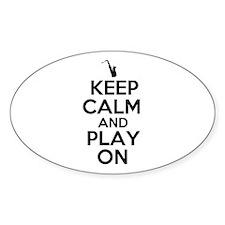 Keep Calm and Play On Sax Decal