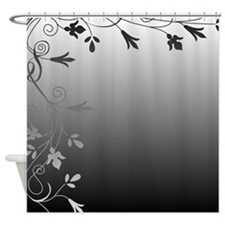 Black Shower Curtains Black Fabric Shower Curtain Liner