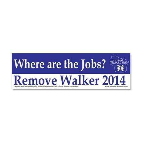 Where are the Jobs? Car Magnet 10 x 3