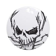 Skull and Bones Ornament (Round)