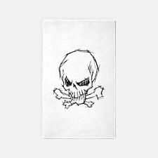 Skull and Bones 3'x5' Area Rug