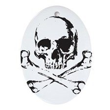 Skull and Bones Ornament (Oval)