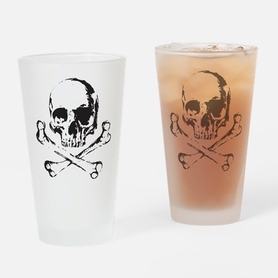 Skull and Bones Drinking Glass