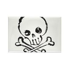 Skull and Bones Rectangle Magnet