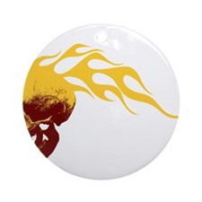Skull on Fire Ornament (Round)