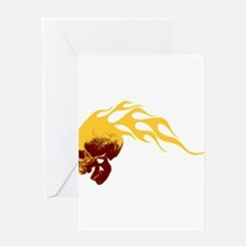 Skull on Fire Greeting Card