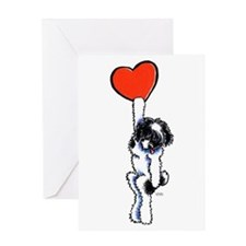Black Parti Havanese Heart Greeting Card