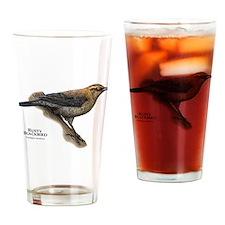 Rusty Blackbird Drinking Glass