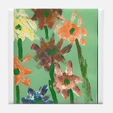 Christophers Flowers. Tile Coaster