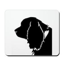 Sussex spaniel silhouette Mousepad