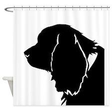 Sussex spaniel silhouette Shower Curtain