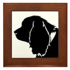 Sussex spaniel silhouette Framed Tile