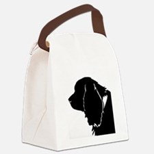 Sussex spaniel silhouette Canvas Lunch Bag