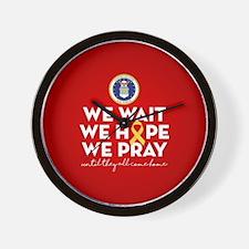 USAF We Wait Hope Pray Wall Clock