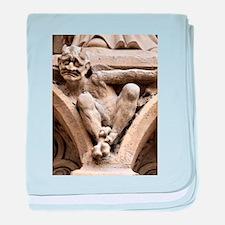 Notre Dame bestiary in Paris, France baby blanket