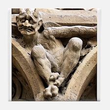 Notre Dame bestiary in Paris, France Tile Coaster