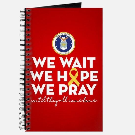 USAF We Wait Hope Pray Journal