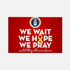 USAF We Wait Hope Pray Rectangle Magnet