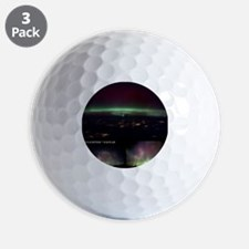 Aurora Borealis from Earth and space - Golf Ball