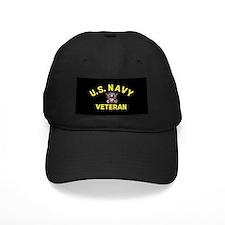 Black Navy Veteran Baseball Cap