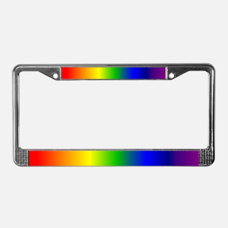 License Plate Frame - Rainbow Fading