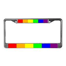License Plate Frame - Rainbow Sharp