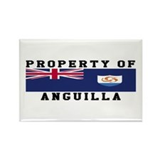 Property Of Anguilla Rectangle Magnet