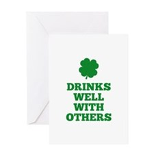 Drinks Well With Others Greeting Card