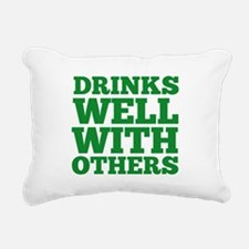 Drinks Well With Others Rectangular Canvas Pillow
