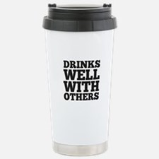 Drinks Well With Others Stainless Steel Travel Mug