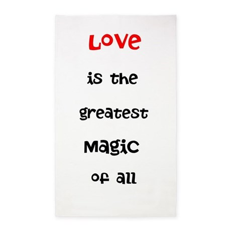 Love is the greatest Magic of all 3'x5' Area Rug