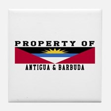 Property Of Antigua and Barbuda Tile Coaster