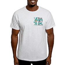 Fights Like a Girl 42.9 Cervical Cancer T-Shirt