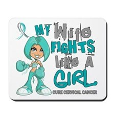 Fights Like a Girl 42.9 Cervical Cancer Mousepad
